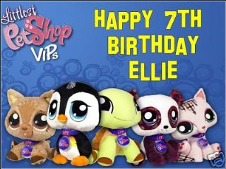 Incredible A4 Littlest Pet Shop Personalised Edible Icing Or Wafer Cake Top Funny Birthday Cards Online Elaedamsfinfo